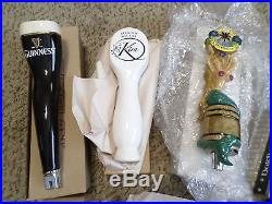 Lot of 8 New Box Beer Keg Tap Handles Guinness Mermaid Dogfish Hourglass Rare