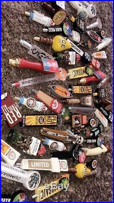 Lot of Used beer tap handles (60+) No Box