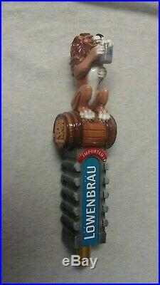 Lowenbrau Lion Large 3D Figural Beer Tap Handle NOS, HUGE 12LENGTH