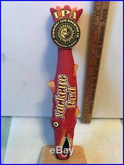 MIDNIGHT SUN BREWING SOCKEYE RED IPA beer tap handle. ALASKA