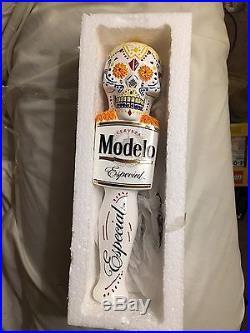 MODELO Especial Skull Dia De Los Muertos Figural Beer Keg Tap Handle (Tall 12)