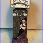 McGARGLES COUSIN ROSIE'S PALE ALE beer tap handle, Kildare, Ireland