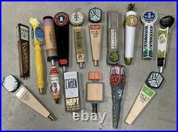Mixed Lot Of 20 Beer Tap Handles Bar Wood Ceramic Keg Pull Knob Handle Taps