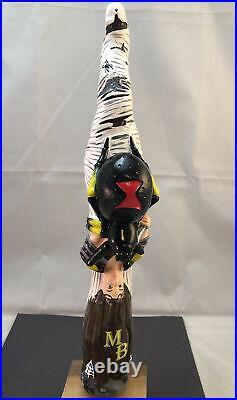 Moddy Brew Black Widow Stout Beer Tap Handle Rare Figural Girl Beer Tap Handle