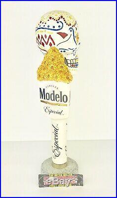 Modelo De Los Meurtos Day Of The Dead Skull Beer Tap Handles Set Excellent RARE