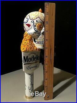 Modelo Especial / Negra Day Of The Dead Sugar Skull Beer Tap Handle Kegerator