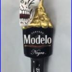 Modelo Negra Tap Handle Half Open Sugar Skull Cerveza Beer Draft Mexican