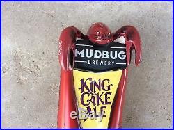 MudBug Brewery Crawfish King Cake Ale Mardi Gras 10.5 Beer Tap Handle
