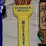 Muskoka Brewery Summer Weiss Craft Beer Tap Handle