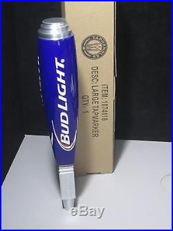 NEW Bud Light Iconic Tall Beer Tap Handle Budweiser With Box Keg Brewery  Red Blue