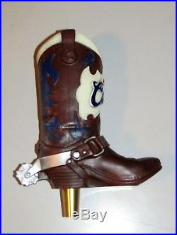 NEW Coors Original Cowboy Boot Beer Tap Handle with Spur Light Bar Man Cave