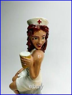 Naughty Nurse Beer Tap Handle TIMES 2 (PLUS her Friends) City Steam. 4 handles