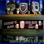 Neon font 7 beer tap handle lighted display bar sign 2-WAY LIGHTING
