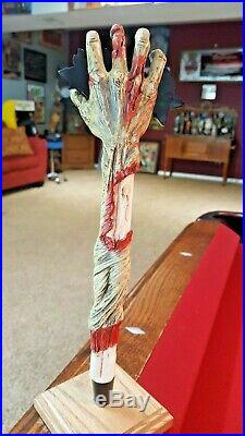 New And Rare Brain Belt Brewing Zombie Hand Beer Tap Handle