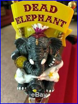 New And Rare Railway City Brewing Dead Elephant Beer Tap Handle