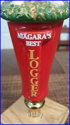 New And Very Rare Niagara Brewing Lumberjack Beer Tap Handle