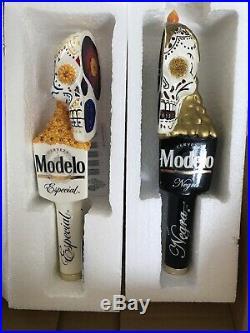 New Modelo Especial / Negra Day Of Dead Skull Beer Tap Handle