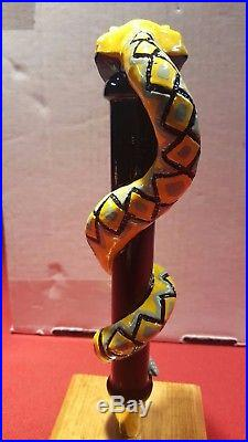 New Rare Indi. Wells Brewery Mojave Gold Snake Head Beer Tap Handle