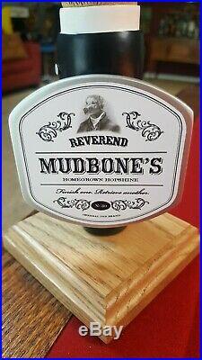 New & Ultra Rare Nib Reverend Mudbone's Homegrown Hopshine Beer Tap Handle