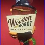 New Wooden Robot Brewery Beer Tap Handle
