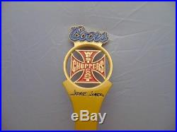 New in box Coors West Coast Choppers Jesse James beer Tap handle 11 gold color