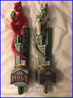 New in box Mechahopzilla Nola Brewing Company Beer Tap Handle, red used