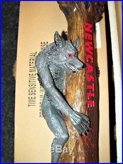 Newcastle Werewolf Blood Red Ale 2013 Beer Tap Handle NIB 13