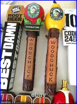Nice Lot Of 33 Beer Tap Handles Sea Dog-corona-woodchuck-michelob-red Hook