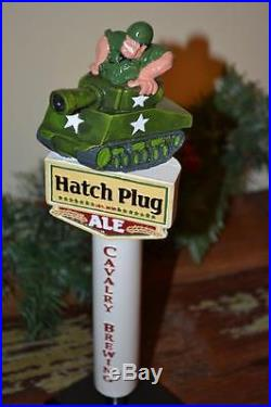 ONE OF A KIND HATCH PLUG ALE BY CAVALRY BREWING BEER DRAFT TAP HANDLE-WOW