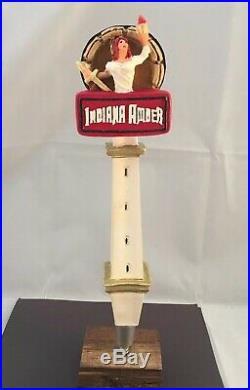 Oaken Barrel Brewing Indiana Amber Beer Tap Handle Ultra Rare Figural Girl Tap