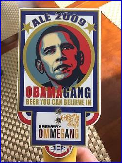 Obamagang Beer Tap Handle From Brewery Ommegang 2009