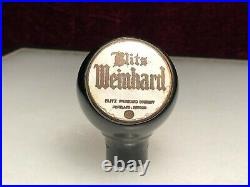 Old Blitz Weinhard Beer Ball Knob Tap Handle Keg Bar Tavern Portland Oregon Rare