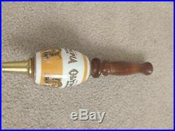 (Oly) Olympia Beer Barrel Tap Handle Brass, Ceramic, Wood, Vintage, Man cave