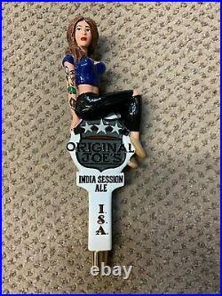 Original Joe's Tattoo ISA girl beer tap handle mint Rare Vancouver, B. C. Figural
