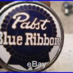 PABST BLUE RIBBON ANTIQUE BALL KNOB BEER TAP HANDLE BIG TAP SALE READ DESCR RARE