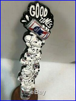 PBR PABST BLUE RIBBON GOOD TIMES art series beer tap handle. Milwaukee, Wisconsin