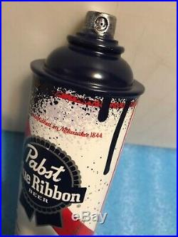 PBR PABST BLUE RIBBON SPRAY PAINT beer tap handle. Milwaukee, Wisconsin