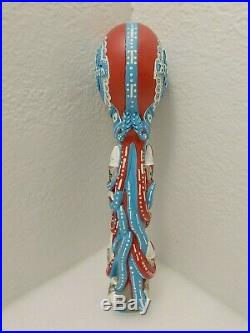 PBR Pabst Blue Ribbon Octopus Rocket Missile 12.5 Draft Beer Keg Tap Handle