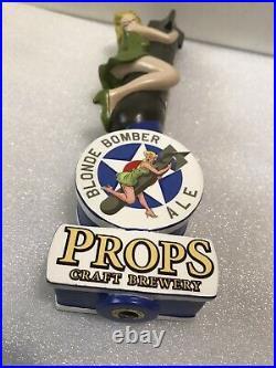 PROPS BLONDE BOMBER draft beer tap handle. FLORIDA