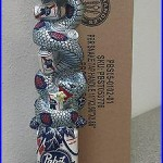 Pabst Blue Ribbon Art Beer Tap Handle NewithIn Box! PBR Snake FREE S/H