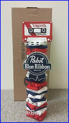 Pabst Blue Ribbon Cassette Boombox Beer Tap Handle NewithIn Box FREE Shipping