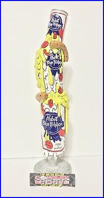 Pabst Blue Ribbon PBR Art Pint Can Pizza Beer Tap Handle 11 Tall Brand New