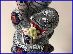 Pabst Blue Ribbon PBR Snake Tap Handle Art Series Beer Keg NEW & F/S 11 TALL