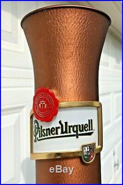Pilsner Urquell Beer Tap Handle Metal Tower 23 Tall Bar Pub RARE