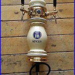 Porcelan German tap beer tower HB MUNCHEN with 2 handles