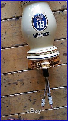 Kegerator For Sale >> Porcelan German tap beer tower HB MUNCHEN with 2 handles