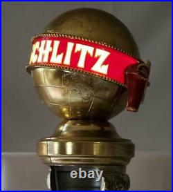 RARE 1973 New In Box SCHLITZ Lighted Globe BEER TOWER COVER Tap Handle Kegerator
