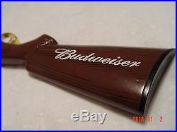 RARE Budweiser Double Barrel Skeet Trap Shotgun Stock Beer Tap Handle 9.5