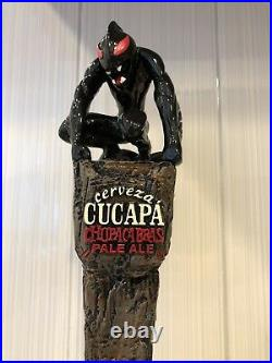 RARE Closed Brewery Cerveza Cucapa Chupacabras Pale Ale Monster Beer Tap Handle