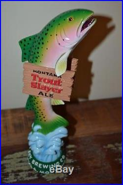 RARE NEW MONTANA TROUT SLAYER ALE BEER DRAFT TAP HANDLE-BIG SKY BREWING